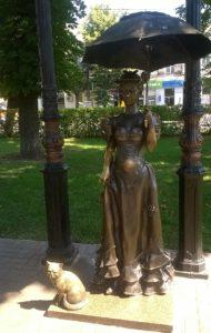 памятник даме